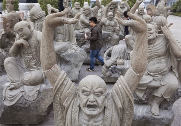Hui an xiamen china stone relief carving sculpture