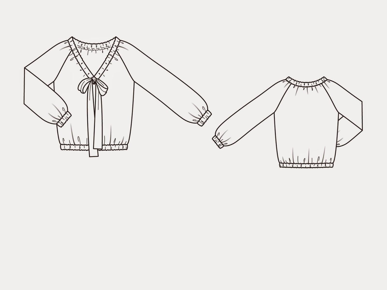 Выкройки блузок 2015