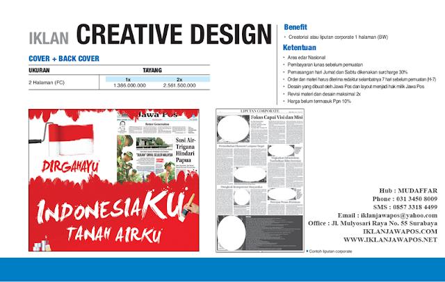 Jawa Pos Iklan Creative Design Cover + Back Cover 2013