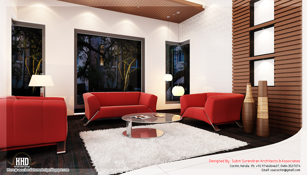 Beautiful home interior designs kerala home design and for Living room interior in kerala