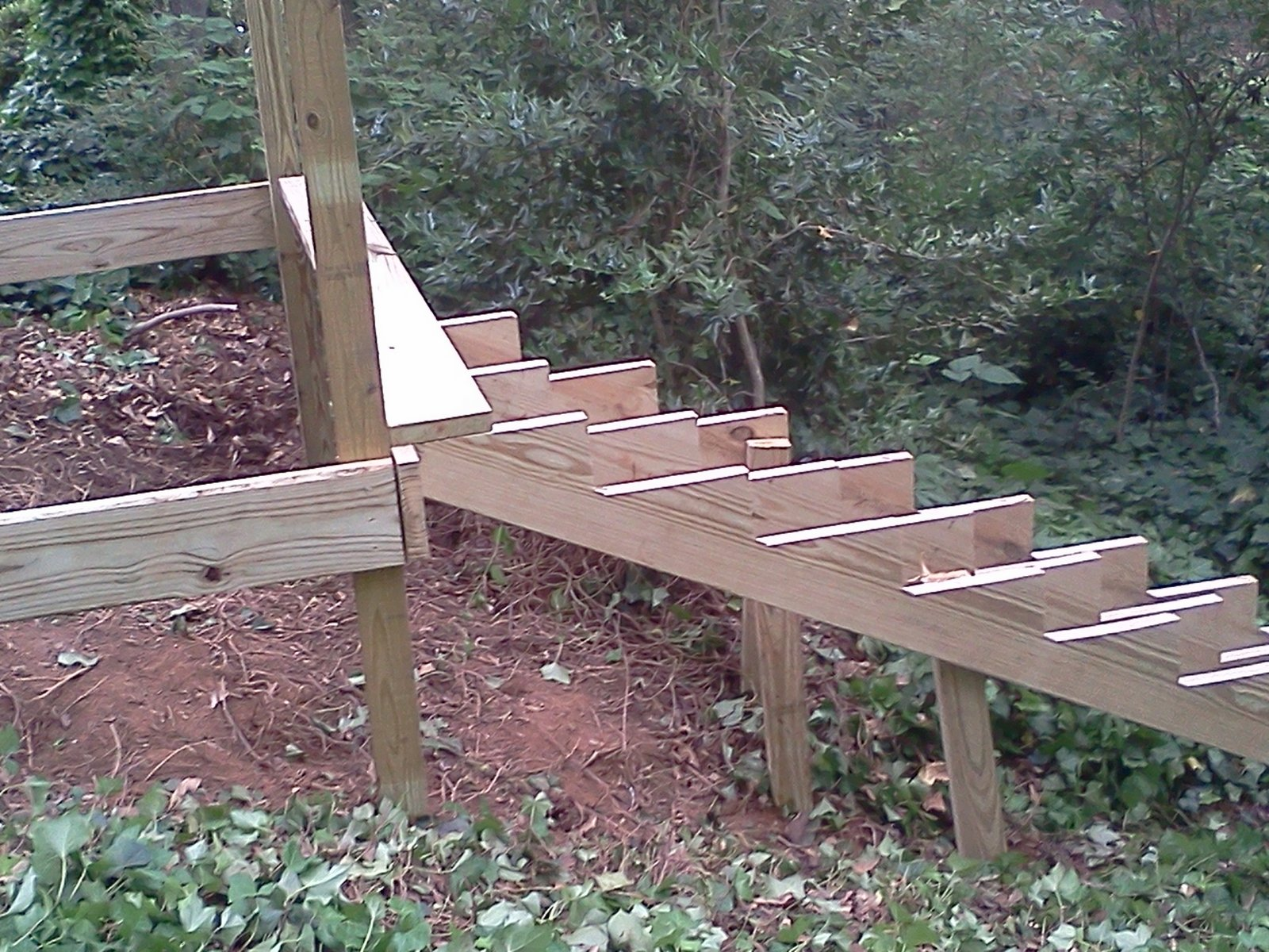 tablesaw tales backyard stairs