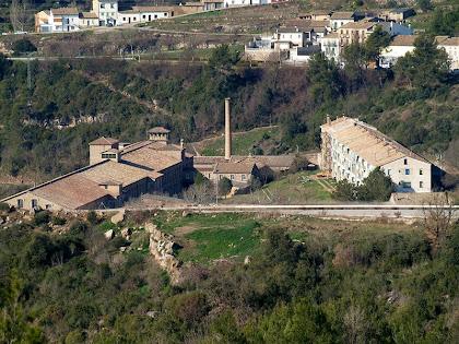 La Colònia de Cal Marçal des de l'alçada de Càmping de Puig-reig
