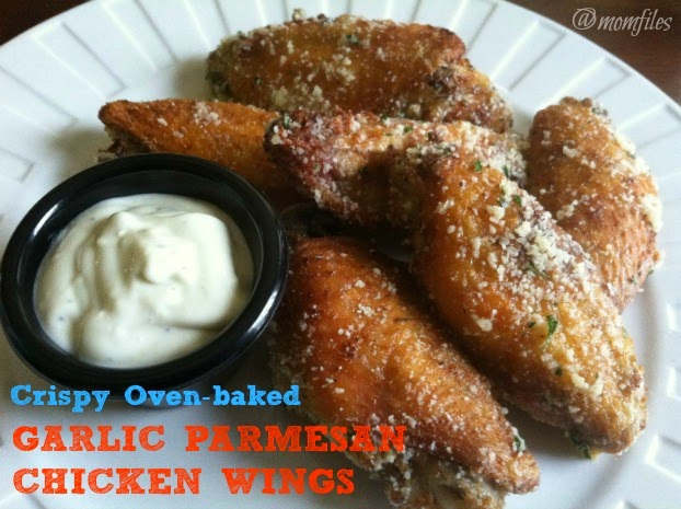 To make these crispy oven-baked Garlic Parmesan Chicken Wings, you ...