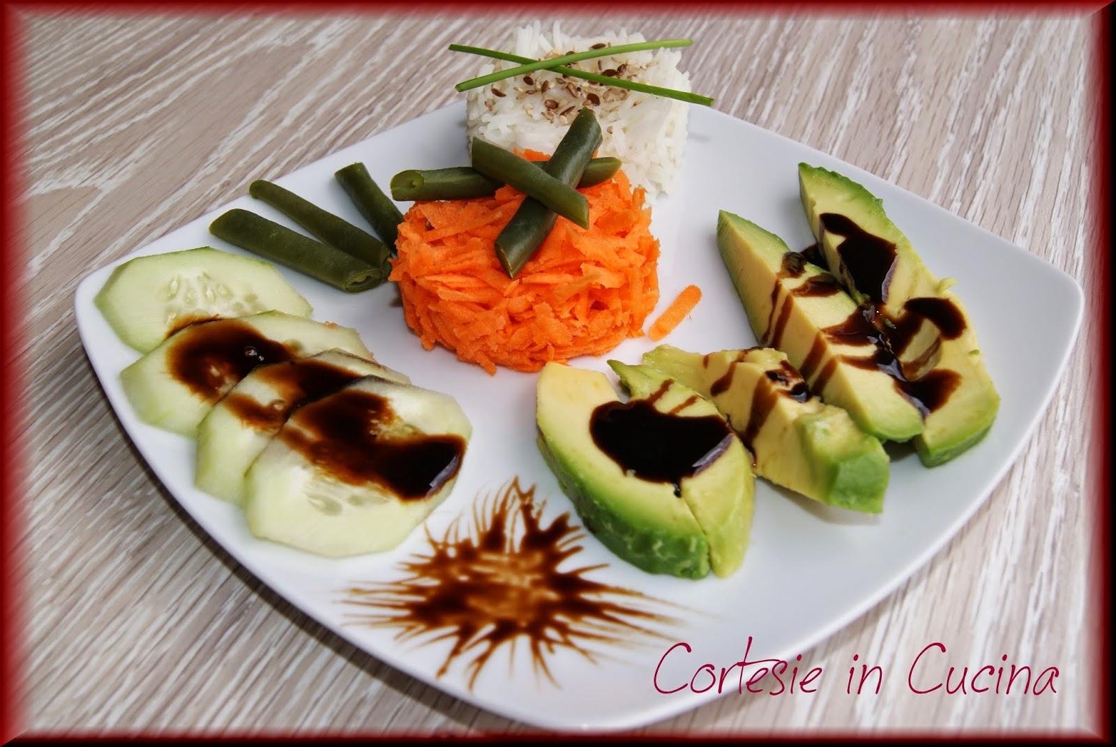insalata con riso basmati ed avocado