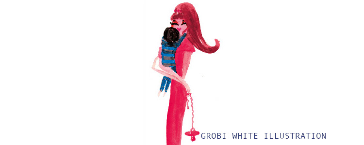 Grobi White Illustration *