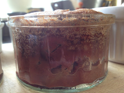 Recipe for Rhubarb and Chocolate pudding
