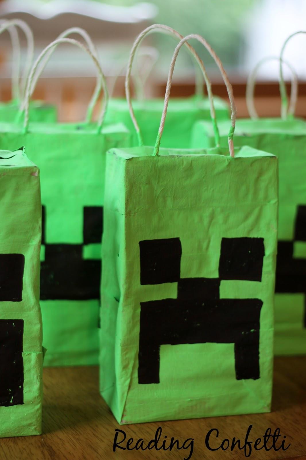 Easy minecraft pinatas and party favors reading confetti - Pinatas de cumpleanos ...