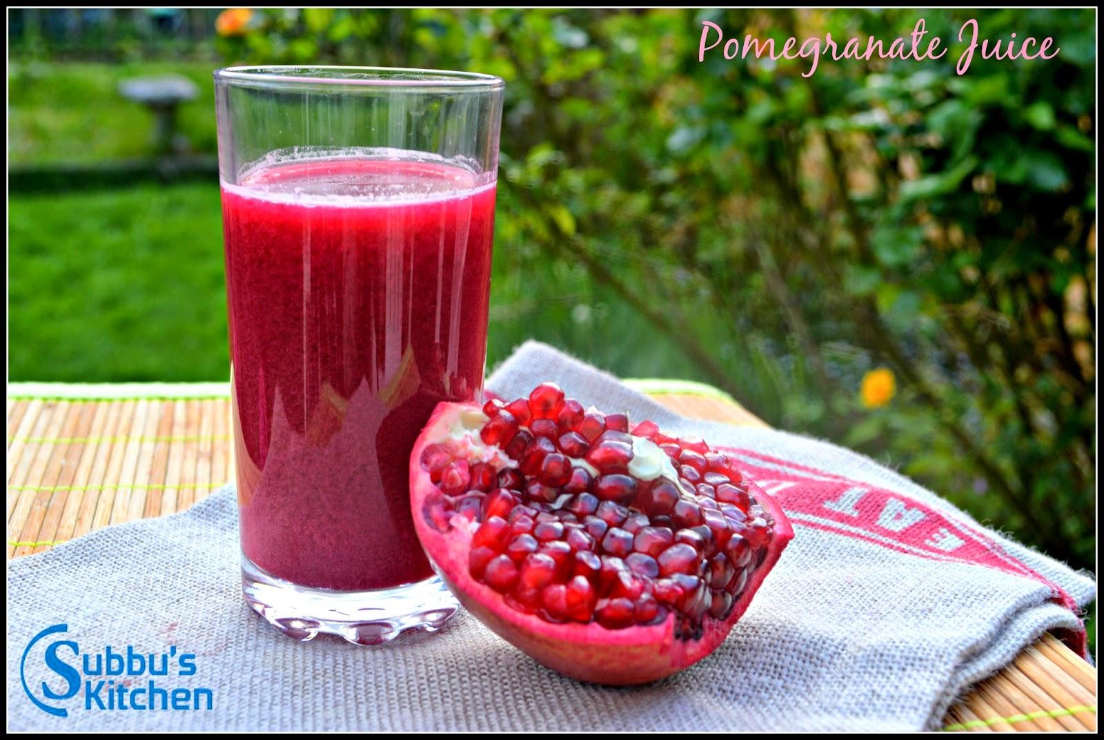 How to Prepare Pomegranate Juice, Seeding Pomegranate, Pomegranate Juice