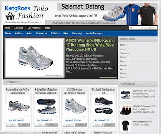 jasa template toko online