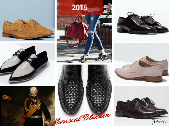 zapatos y sandalias primavera  verano 2015 tendencias blucher