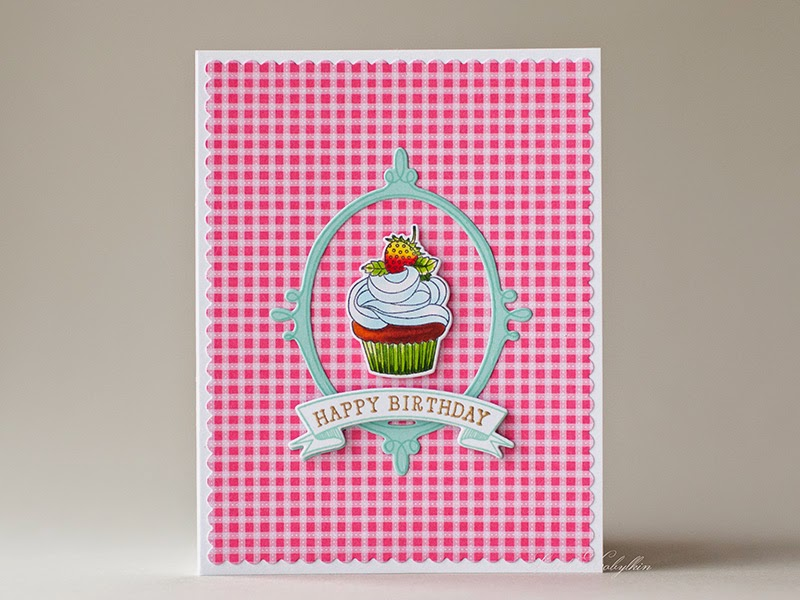 Birthday Card with Papertrey Ink Baker's Dozen by Sweet Kobylkin