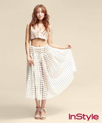 Foto Mempesona T-ara Hyomin Untuk Majalah InStyle Edisi Juni 2013