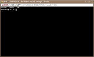 Proxmox console