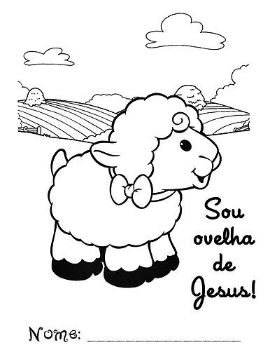 imagens para colorir de jesus com ovelhas - Desenhos para pintar Jesus nos ama