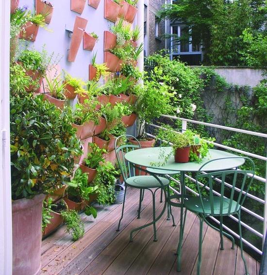 красивое офрмление балкона растениями и цветами