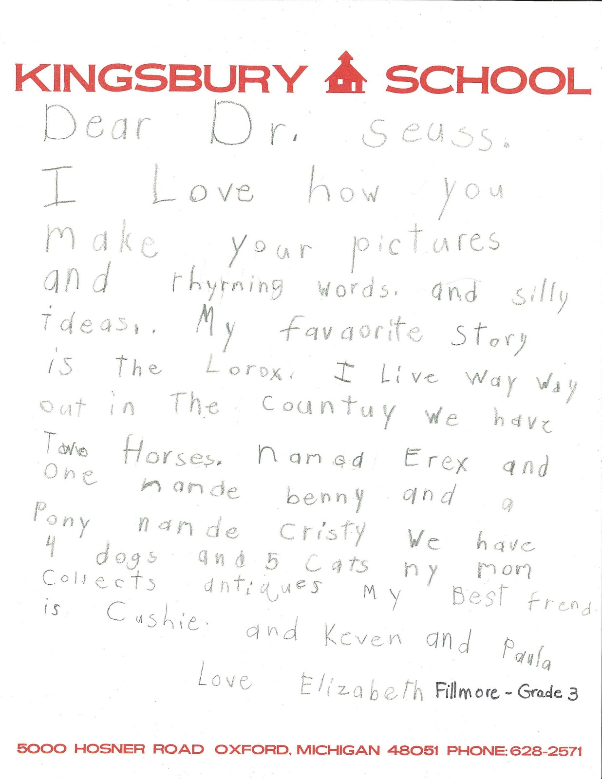 Dear dr seuss library muse to see all of the letters ask for ms 1100 box 1 folder 8 spiritdancerdesigns Images