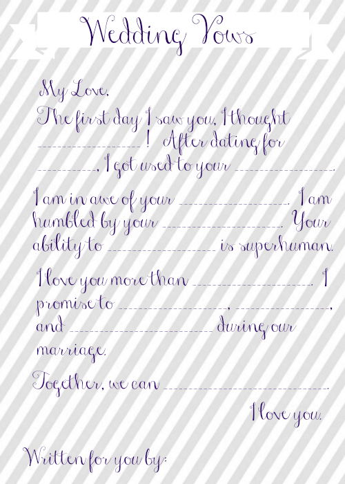 Wedding vow mad libs free printable maxwellsz