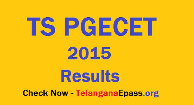 Telangana TS PGECET Results
