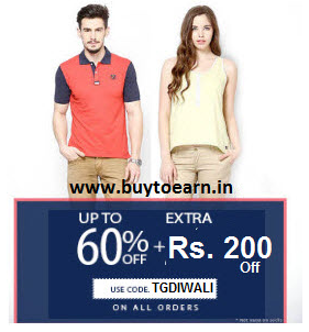 American swan Clothing, Footwears & Accessories upto 60% + Rs. 200 off no minimum purchase from Rs. 80