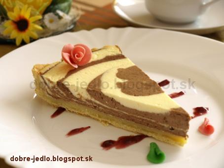 Mramorový tvarohový koláč - recepty