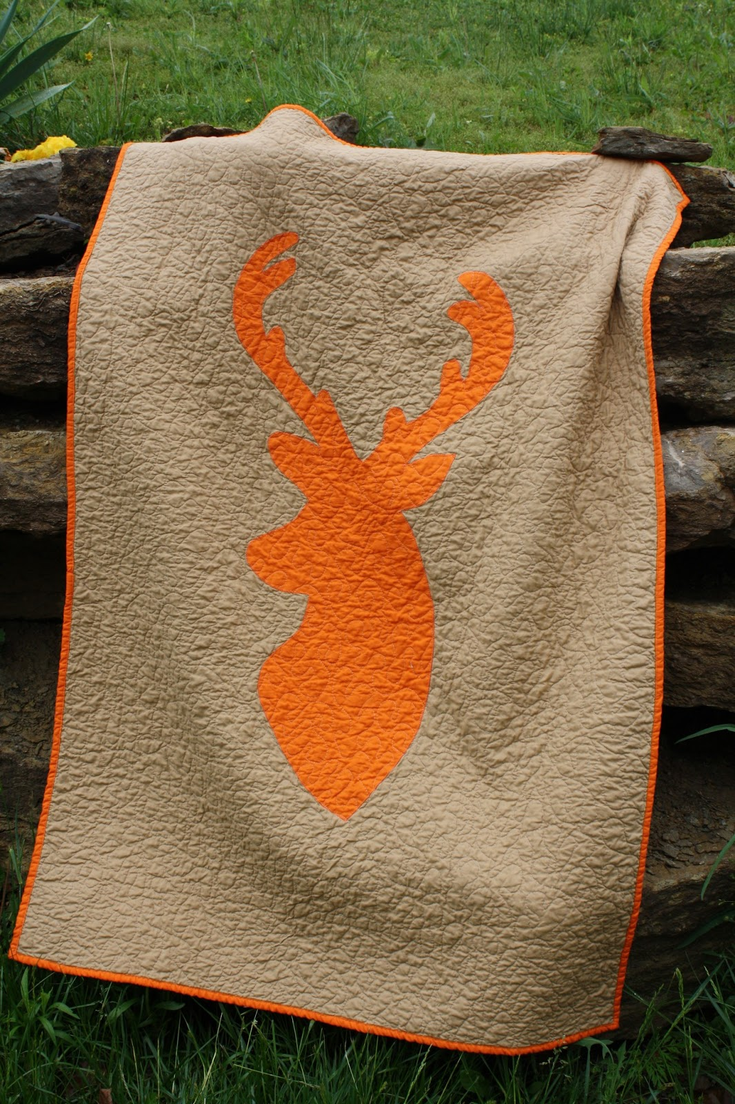 Oxford Impressions: Deer Crib Quilt Made With Paper Pattern : deer quilt patterns - Adamdwight.com