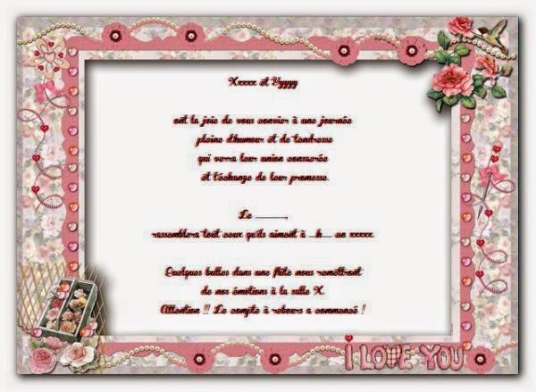 Une jolie carte faire part mariage