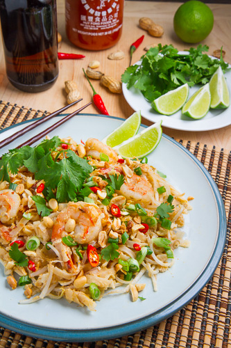 Spicy Peanut Sauce Pad Thai on Closet Cooking