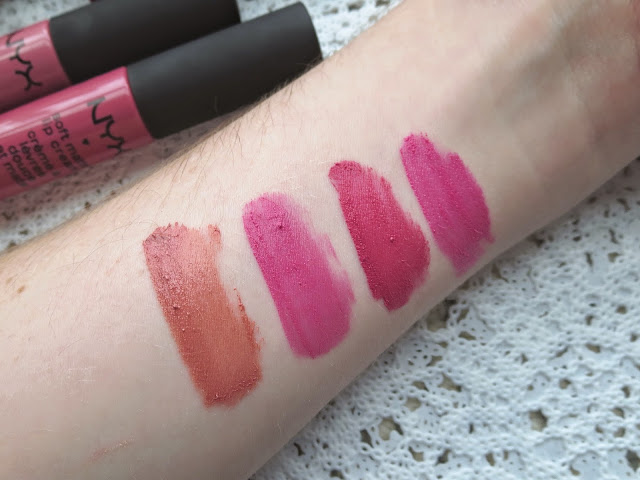 a picture of NYX Soft Matte Lip Cream in Stockholm, Milan, San Paulo, Addis Ababa (arm swatch)