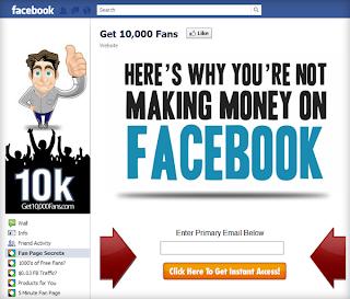 Get 10,000 fans fan page