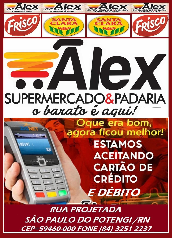 ALEX SUPERMERCADO O BARATO É AQUI