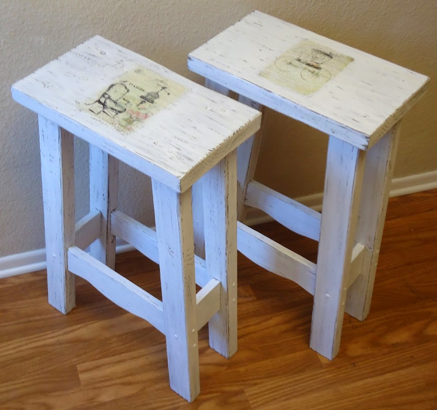 French Typography Bar Stools - SOLD