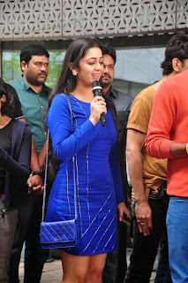 Actress Charmi Kaur Latest Pictures in Short Dress with R Rajkumar Movie Team at Yes Mart 0012