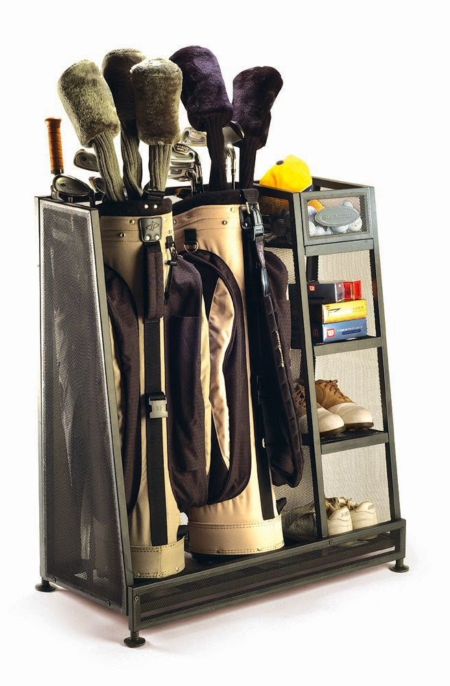 Organized Father's Day Gift Idea - Golf Club Organizer :: OrganizingMadeFun.com
