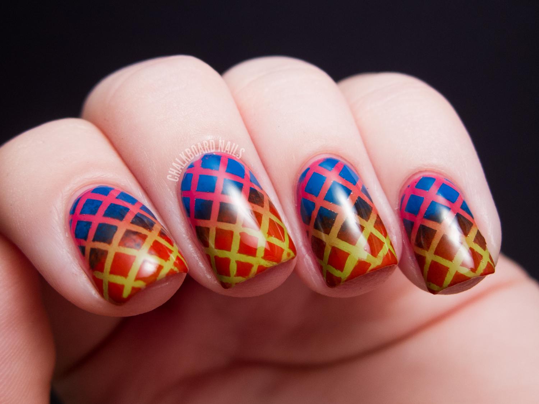 Double Gradient Mesh - China Glaze Cirque du Soleil Nail Art ...