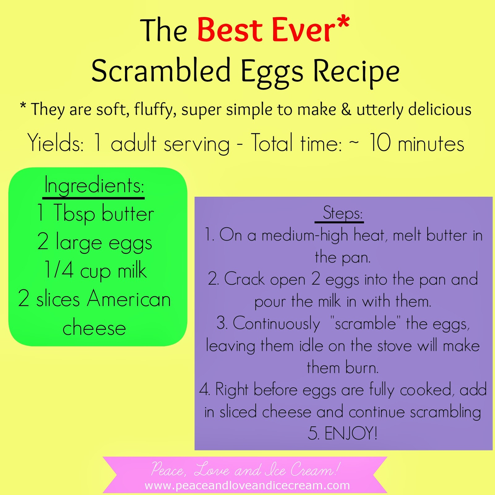 so easy, eggs are so fluffy and delicious, very little ingredients, very little time, tons of flavor, breakfast for dinner