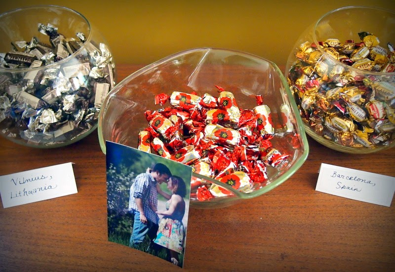DIY travel wedding candy favours