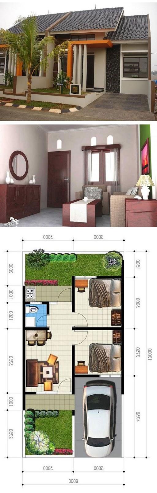 contoh denah dan desain rumah minimalis idaman