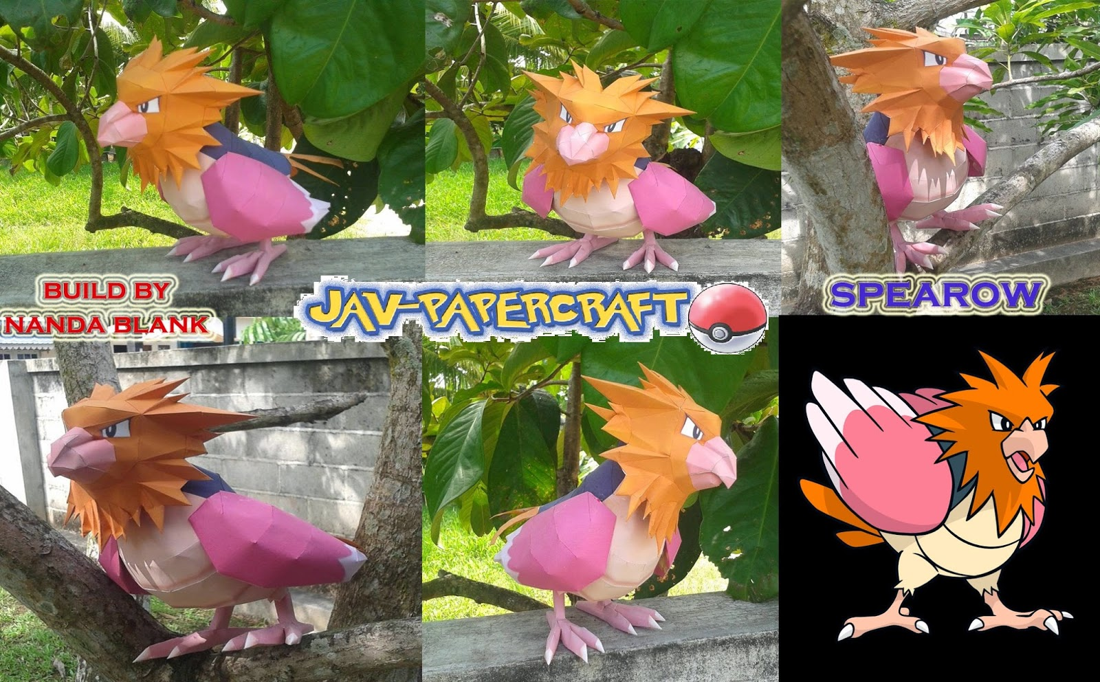 Pokemon Spearow Papercraft