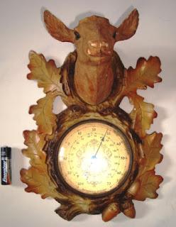 Termometer Ruangan Motif Rusa, Dedaunan Buatan Perancis