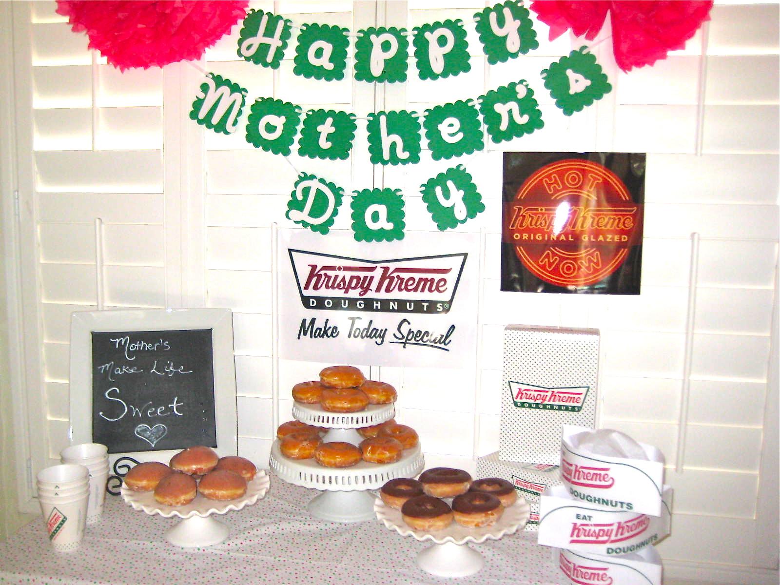Creative Party Ideas by Cheryl: Mother\'s Day Krispy Kreme Donut Party