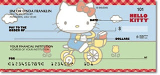 Hello Kitty cheque