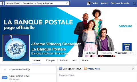 Conseiller La Banque Postale sur Facebook
