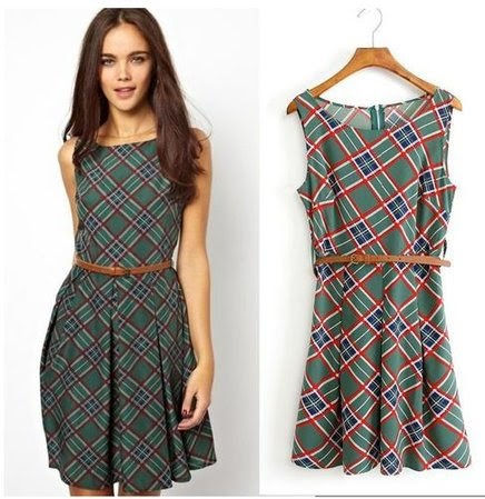 Moda evangelica vestidos xadrez