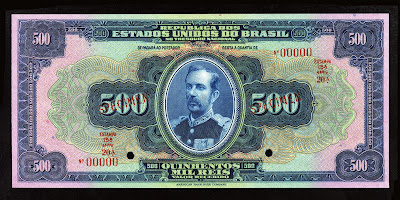 Brazil currency money Reis Cruzado Cruzeiro Real Reais banknote Field Marshal