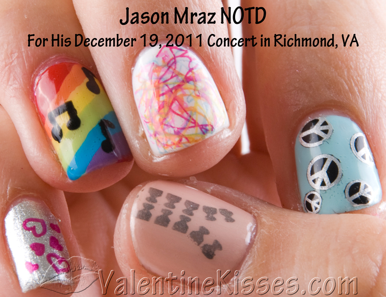 The Extraordinary Music notes nail art designs Image