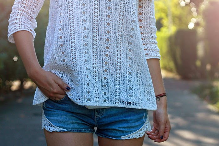 lace top ddim short