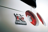 2012 MY Nissan GT-R Égoïste official press media photo image picture high resolution original source facelift revised new generation enhanced restyled special exclusive edition rear emblem badge logo