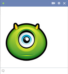 Monster emoticon for Facebook