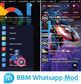 BBM Whatsapp Captain America MOD Apk