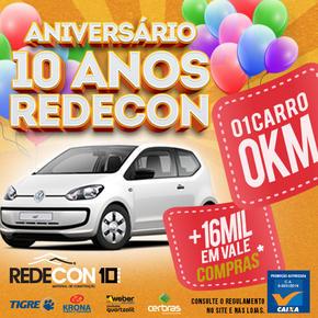 PROMOÇÃO DE 10 ANOS DE ANIVERSARIO – REDECON T.MELO